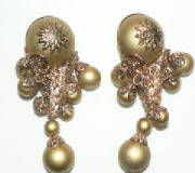 Golden balls earrings