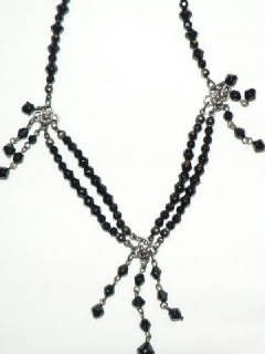 Small black beads necklace