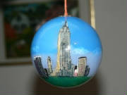 Hand painted hand blown empire ornaments