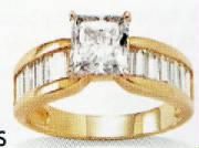 14k princess-cut cubiz zicornia ring