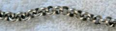 Sterlinf silver rolo bracelet