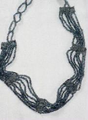 Dark beads necklace