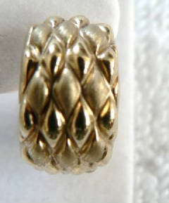 18k gold laser cut earrings