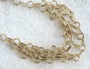 14K Circle cascata  necklace