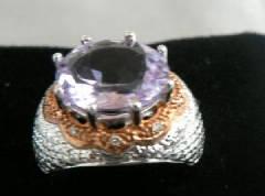 Rose de france 10k gold ring