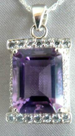 Amethyst Simulated Diamond