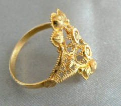 21K Grannulated Ring