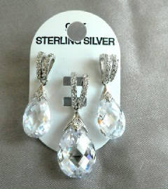Sterling silver pear set