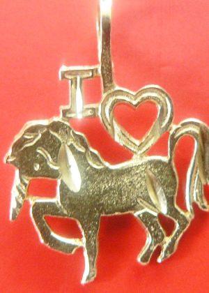 14K gold i love you unicorn
