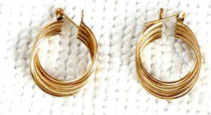 14k Rope earrings
