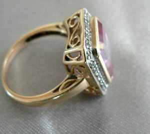 Pink                                                 and White Passion Topaz