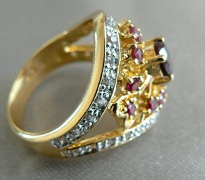 Technibond ruby ring
