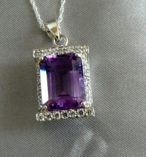 Amethyst Simuulated Diamond